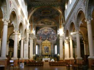 Interno chiesa di Santa Maria in Vado a Ferrara